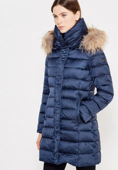 Пуховик, Hetrego, цвет: синий. Артикул: HE832EWVIV34. Премиум / Одежда / Верхняя одежда / Пуховики и зимние куртки