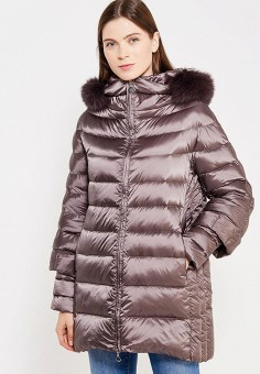 Пуховик, Hetrego, цвет: коричневый. Артикул: HE832EWVIV36. Премиум / Одежда / Верхняя одежда / Пуховики и зимние куртки