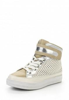 Кеды, Ideal Shoes, цвет: бежевый. Артикул: ID005AWIOZ44. Женская обувь / Кроссовки и кеды