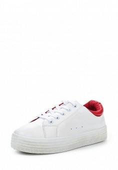 Кеды, Ideal Shoes, цвет: белый. Артикул: ID005AWPVT31. Женская обувь / Кроссовки и кеды