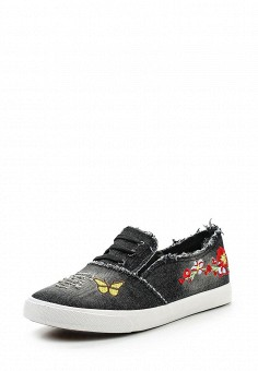 Кеды, Ideal Shoes, цвет: черный. Артикул: ID005AWSBE49. Женская обувь / Кроссовки и кеды