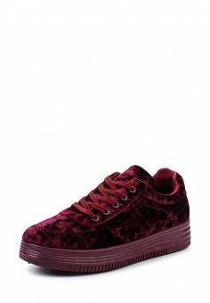Кеды, Ideal Shoes, цвет: бордовый. Артикул: ID007AWWEI69. Женская обувь / Кроссовки и кеды