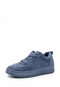 Кеды, Ideal Shoes, цвет: синий. Артикул: ID007AWWEI76. Женская обувь / Кроссовки и кеды