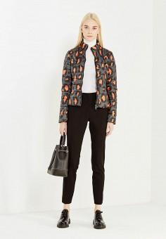 Куртка утепленная, Liu Jo Jeans, цвет: зеленый, черный. Артикул: LI003EWUDU38. Премиум / Одежда / Верхняя одежда
