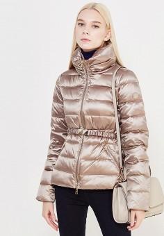 Пуховик, Liu Jo, цвет: бежевый. Артикул: LI687EWUDM86. Премиум / Одежда / Верхняя одежда / Пуховики и зимние куртки