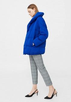 Пуховик, Mango, цвет: синий. Артикул: MA002EWVWT68. Женская одежда / Верхняя одежда / Пуховики и зимние куртки