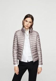 Пуховик, Mango, цвет: серый. Артикул: MA002EWXFC37. Женская одежда / Верхняя одежда / Пуховики и зимние куртки