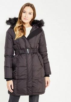 Пуховик, Morgan, цвет: черный. Артикул: MO012EWVAD07. Женская одежда / Верхняя одежда / Пуховики и зимние куртки / Длинные пуховики и куртки