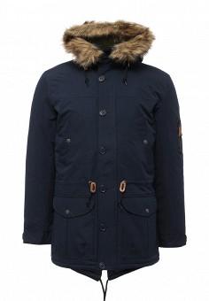 Куртка утепленная, Modis, цвет: синий. Артикул: MO044EMWYW24. Мужская одежда / Верхняя одежда / Парки