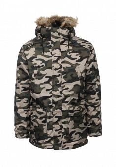 Куртка утепленная, Modis, цвет: хаки. Артикул: MO044EMXWU17. Мужская одежда / Верхняя одежда / Пуховики и зимние куртки