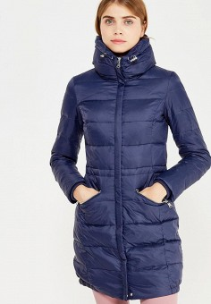 Пуховик, Modis, цвет: синий. Артикул: MO044EWWRK81. Женская одежда / Верхняя одежда / Пуховики и зимние куртки