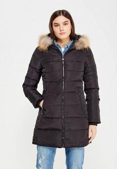 Пуховик, Colin's, цвет: черный. Артикул: MP002XW1ASCW. Женская одежда / Верхняя одежда / Пуховики и зимние куртки