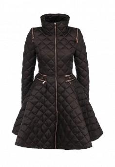 Пуховик, Odri, цвет: коричневый. Артикул: OD001EWGJW29. Женская одежда / Верхняя одежда / Пуховики и зимние куртки
