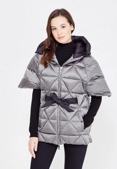 Пуховик, Odri, цвет: серый. Артикул: OD001EWXGF52. Женская одежда / Верхняя одежда / Пуховики и зимние куртки