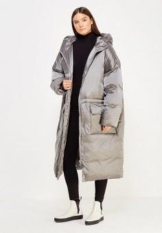 Пуховик, Odri, цвет: серый. Артикул: OD001EWXGR31. Женская одежда / Верхняя одежда / Пуховики и зимние куртки