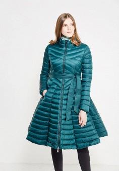 Пуховик, Odri, цвет: зеленый. Артикул: OD001EWYGM60. Женская одежда / Верхняя одежда / Пуховики и зимние куртки