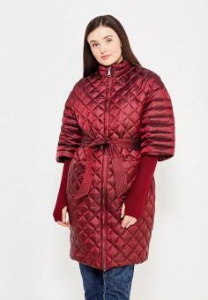 Пуховик, Odri, цвет: бордовый. Артикул: OD001EWYGM91. Женская одежда / Верхняя одежда / Пуховики и зимние куртки
