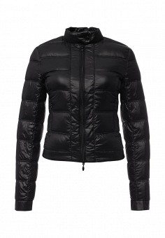 Пуховик, oodji, цвет: черный. Артикул: OO001EWJOM28. Женская одежда / Верхняя одежда / Пуховики и зимние куртки
