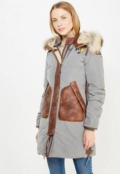 Пуховик, Parajumpers, цвет: зеленый. Артикул: PA997EWTCG57. Женская одежда / Верхняя одежда / Пуховики и зимние куртки