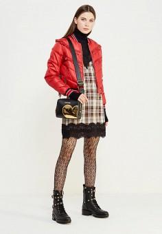 Куртка утепленная, Pinko, цвет: красный. Артикул: PI754EWUKK90. Премиум / Одежда / Верхняя одежда