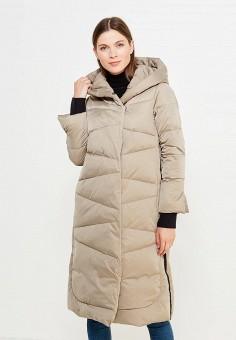 Пуховик, Savage, цвет: бежевый. Артикул: SA004EWVJW40. Женская одежда / Верхняя одежда / Пуховики и зимние куртки / Длинные пуховики и куртки