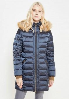 Пуховик, Savage, цвет: синий. Артикул: SA004EWVJW43. Женская одежда / Верхняя одежда / Пуховики и зимние куртки