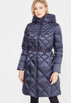 Пуховик, Savage, цвет: синий. Артикул: SA004EWVJW47. Женская одежда / Верхняя одежда / Пуховики и зимние куртки