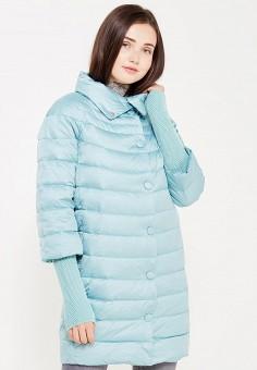Пуховик, Savage, цвет: голубой. Артикул: SA004EWVJW63. Женская одежда / Верхняя одежда / Пуховики и зимние куртки
