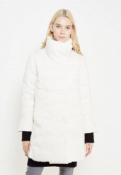 Пуховик, Savage, цвет: белый. Артикул: SA004EWVJW65. Женская одежда / Верхняя одежда / Пуховики и зимние куртки