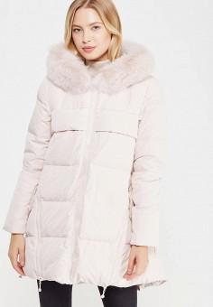 Пуховик, Savage, цвет: розовый. Артикул: SA004EWVJW74. Женская одежда / Верхняя одежда / Пуховики и зимние куртки