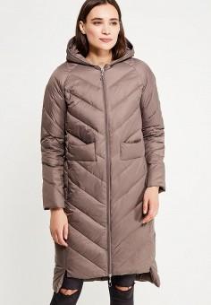 Пуховик, Savage, цвет: коричневый. Артикул: SA004EWVJW77. Женская одежда / Верхняя одежда / Пуховики и зимние куртки