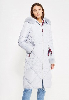 Пуховик, Savage, цвет: серый. Артикул: SA004EWVJW83. Женская одежда / Верхняя одежда / Пуховики и зимние куртки