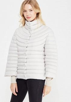 Пуховик, Savage, цвет: серый. Артикул: SA004EWVJW87. Женская одежда / Верхняя одежда / Пуховики и зимние куртки