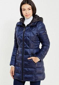 Пуховик, Savage, цвет: синий. Артикул: SA004EWVJW90. Женская одежда / Верхняя одежда / Пуховики и зимние куртки