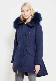 Пуховик, Savage, цвет: синий. Артикул: SA004EWVJW98. Женская одежда / Верхняя одежда / Пуховики и зимние куртки