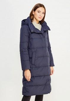 Пуховик, Sela, цвет: синий. Артикул: SE001EWURO78. Женская одежда / Верхняя одежда / Пуховики и зимние куртки