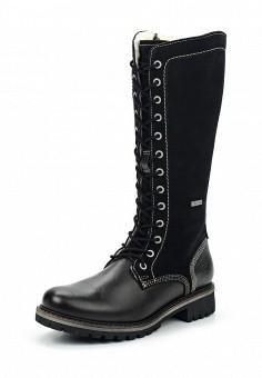 Сапоги, Tamaris, цвет: черный. Артикул: TA171AWUYH58. Женская обувь / Сапоги / Сапоги