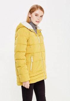 Пуховик, Tom Farr, цвет: желтый. Артикул: TO005EWWUW12. Женская одежда / Верхняя одежда / Пуховики и зимние куртки