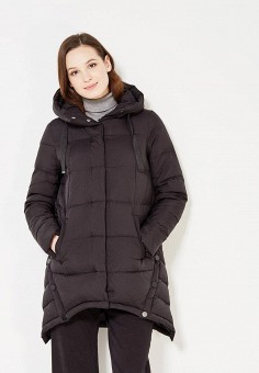 Пуховик, Tom Farr, цвет: черный. Артикул: TO005EWWUW16. Женская одежда / Верхняя одежда / Пуховики и зимние куртки