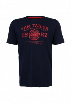 Футболка, Tom Tailor, цвет: синий. Артикул: TO172EMBTR15. Tom Tailor