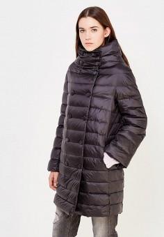 Пуховик, Trussardi Jeans, цвет: черный. Артикул: TR016EWUWF08. Премиум / Одежда / Верхняя одежда / Пуховики и зимние куртки