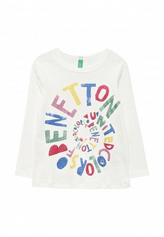 Лонгслив, United Colors of Benetton, цвет: белый. Артикул: UN012EGVWV11. United Colors of Benetton