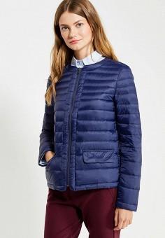 Пуховик, United Colors of Benetton, цвет: синий. Артикул: UN012EWVXJ58. Женская одежда / Верхняя одежда / Пуховики и зимние куртки