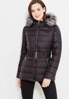 Пуховик, United Colors of Benetton, цвет: черный. Артикул: UN012EWWLY72. Женская одежда / Верхняя одежда / Пуховики и зимние куртки