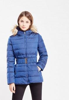Пуховик, United Colors of Benetton, цвет: синий. Артикул: UN012EWWLY75. Женская одежда / Верхняя одежда / Пуховики и зимние куртки