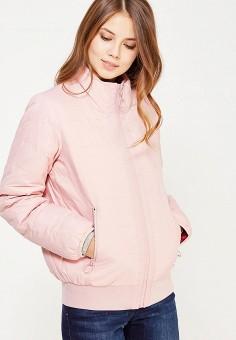 Пуховик, United Colors of Benetton, цвет: розовый, фуксия. Артикул: UN012EWWLZ27. Женская одежда / Верхняя одежда / Пуховики и зимние куртки