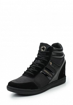 Кеды на танкетке, Versace Jeans, цвет: черный. Артикул: VE006AWUBI36. Женская обувь / Кроссовки и кеды / Кеды