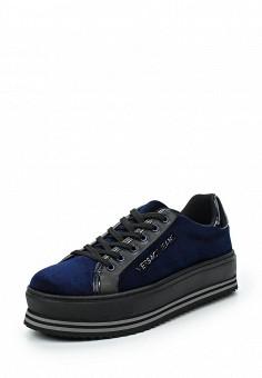 Кроссовки, Versace Jeans, цвет: синий. Артикул: VE006AWUEL91. Премиум / Обувь / Кроссовки и кеды