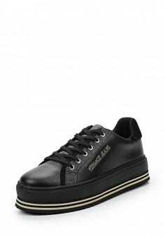Кроссовки, Versace Jeans, цвет: черный. Артикул: VE006AWUEL92. Премиум / Обувь / Кроссовки и кеды