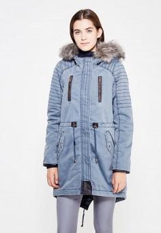 Парка, Vero Moda, цвет: синий. Артикул: VE389EWVBB80. Женская одежда / Верхняя одежда / Парки